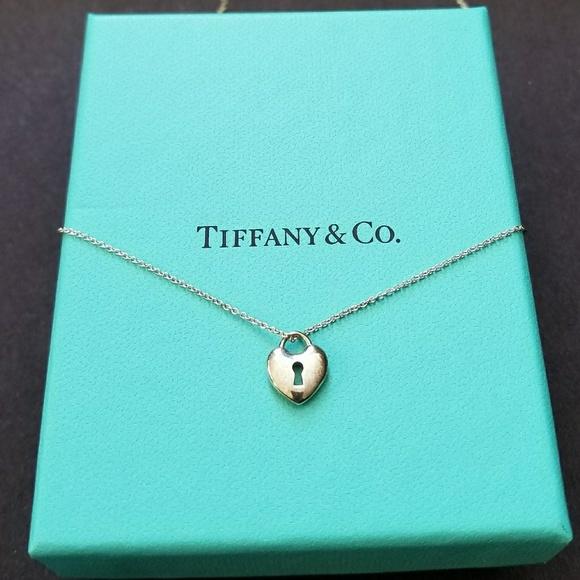 68ac50d45 Tiffany & Co. Jewelry | Tiffany Co Heart Lock Keyhole Pendant | Poshmark